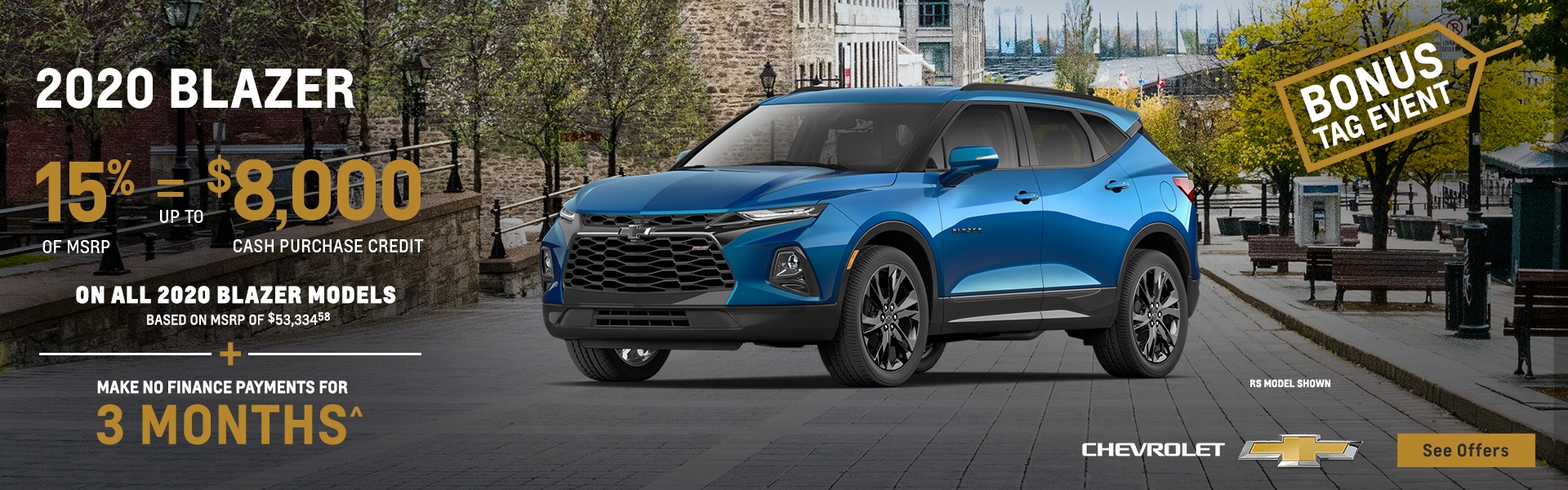 2020 Chevy Blazer August savings Tilbury Windsor