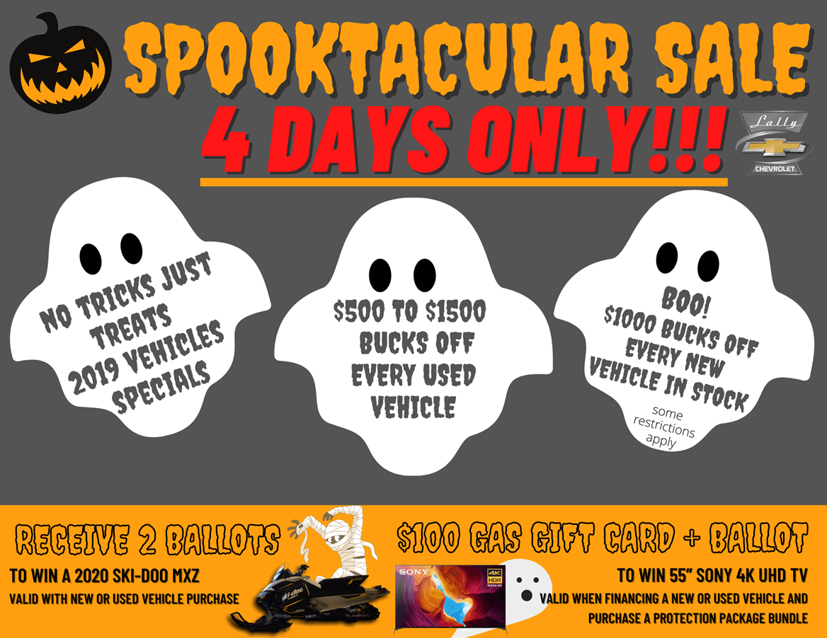 lally chev spooktacular sale october 2020
